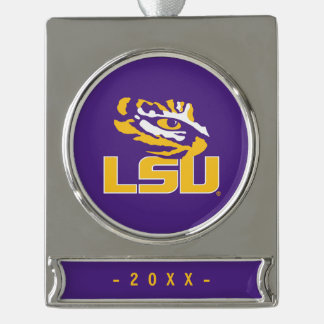 Louisiana State University | Tiger Eye Silver Plated Banner Ornament