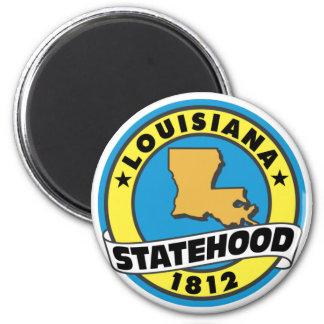 Louisiana Statehood 2 Inch Round Magnet