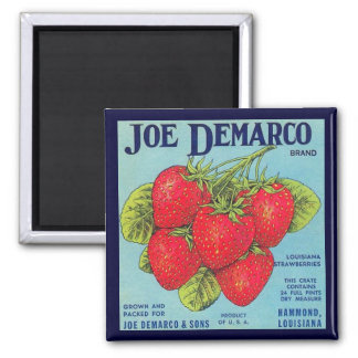 Louisiana Stawberry Crate Label Magnet