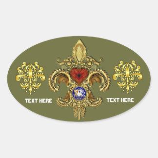 Louisiana Sticker Oval Over 50 Colors