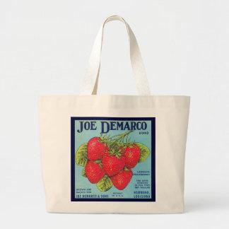 Louisiana Strawberry Crate Label - Bag