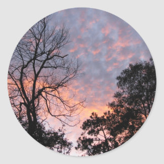 Louisiana Sunset Classic Round Sticker