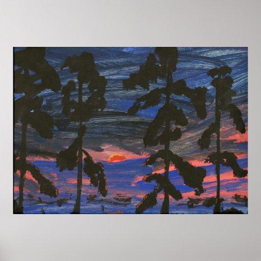 Louisiana Swamp at Sunset Poster