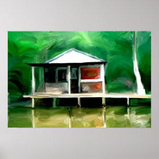 Louisiana Swamp Cottage Poster