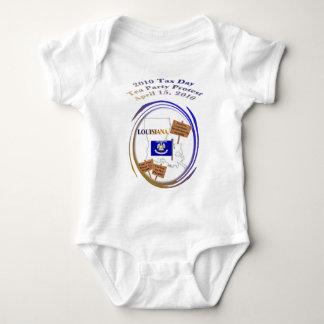Louisiana Tax Day Tea Party Protest Baby Shirt