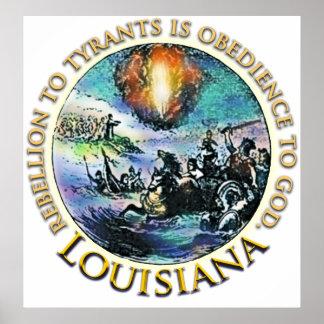 Louisiana Tea Party Poster
