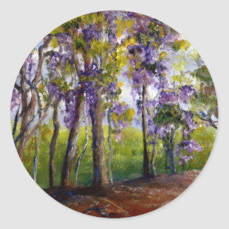 Louisiana Trees and Wisteria Classic Round Sticker