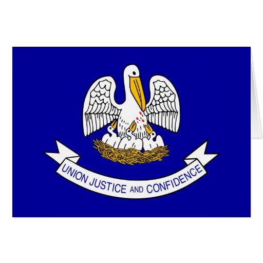 Louisiana, United States flag Greeting Card