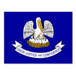 Louisiana, United States flag Postcard