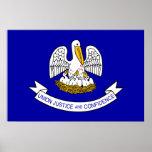 Louisiana, United States flag Poster