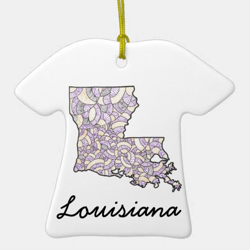 Louisiana United States Original Art Ornament