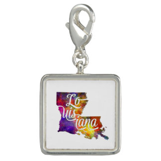 Louisiana US State in watercolor text cut out Dijes Con Foto