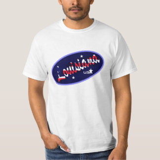 Louisiana USA flag colours  t-shirt