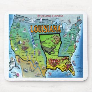 Louisiana USA Map Mouse Pad