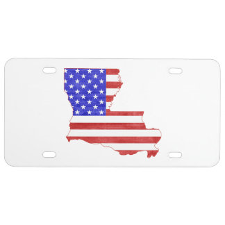 Louisiana USA silhouette state map License Plate