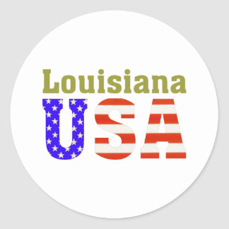 Louisiana USA! Classic Round Sticker
