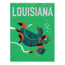 louisiana USA vintage travel poster art Postcard