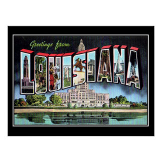 Louisiana Vintage Poster Creole