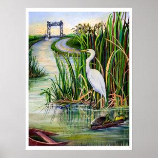 Louisiana Wetlands Poster
