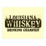 Louisiana Whiskey Drinking Champion Postcard