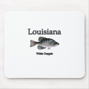 USA Themed Louisiana White Crappie Mouse Pad