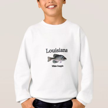 USA Themed Louisiana White Crappie Sweatshirt