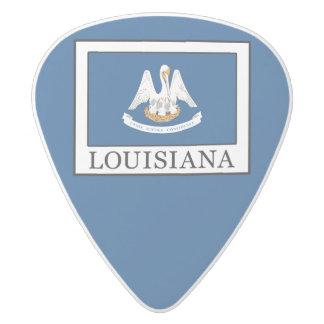 Louisiana White Delrin Guitar Pick