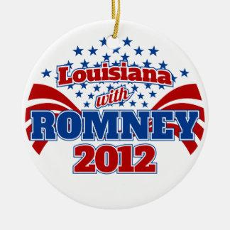 Louisiana with Romney 2102 Ceramic Ornament