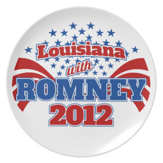 Louisiana with Romney 2102 Party Plate