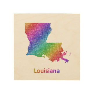 Louisiana Map Art Framed Artwork Zazzle