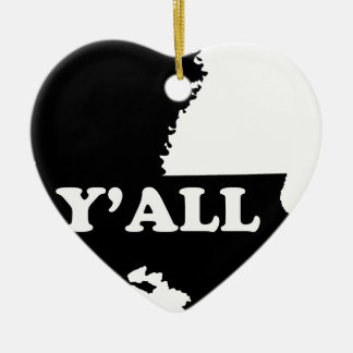 Louisiana Yall Ceramic Ornament