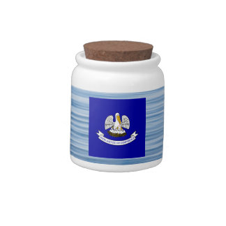 Louisianan Flag Floating on water Candy Jars