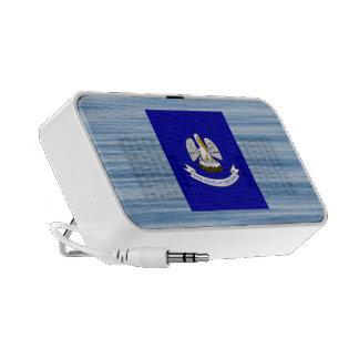 Louisianan Flag Floating on water Laptop Speaker