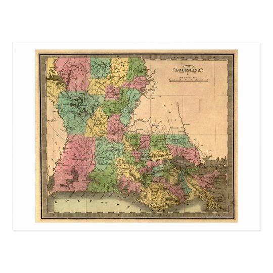 LouisianaPanoramic MapLouisiana Postcard