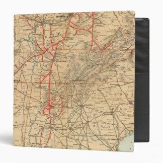 Louisville and Nashville Railroad Vinyl Binders