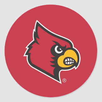 Louisville Cardinal Classic Round Sticker