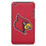 Louisville Cardinal on Red iPod Case-Mate Cases