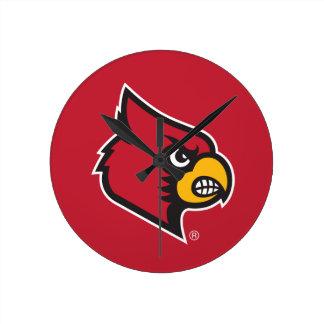Louisville Cardinal Round Clock