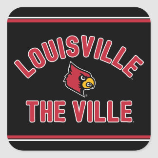 Louisville Cardinals   The Ville Square Sticker
