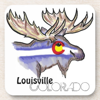 Louisville Colorado artistic elk drink coasters