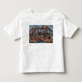 Louisville, Colorado - Large Letter Scenes Toddler T-shirt