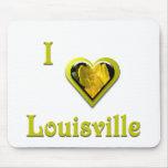 Louisville -- con la flor amarilla tapete de raton