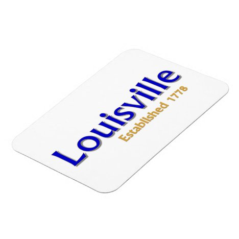 "Louisville Established 3""x4"" Flexible Photo Magnet"