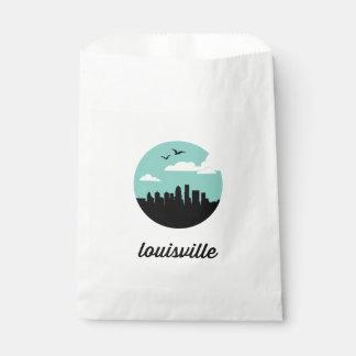 Louisville favor bags | Louisville city skyline