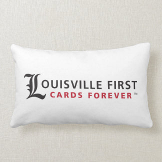 Louisville First, Cards Forever Throw Pillow