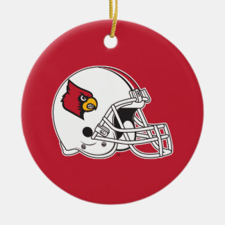 Louisville Football Helmet Double-Sided Ceramic Round Christmas Ornament