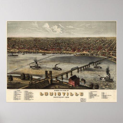 Louisville, Kentucky - 1876 (Ruger) BigMapBlog.com Posters