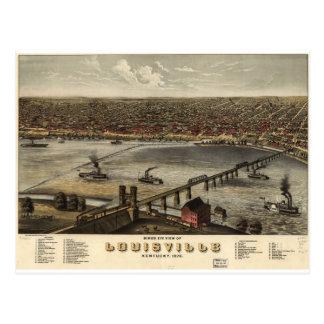 Louisville, Kentucky en 1876 Tarjeta Postal