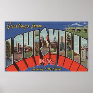 Louisville, Kentucky - escenas grandes de la letra Poster