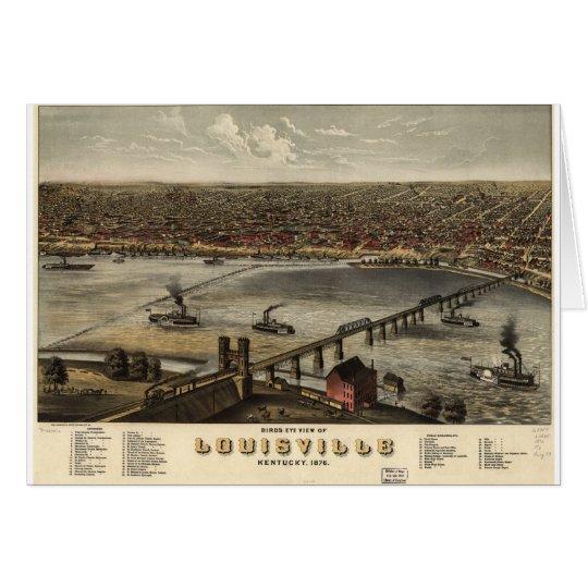 Louisville, Kentucky in 1876 Card